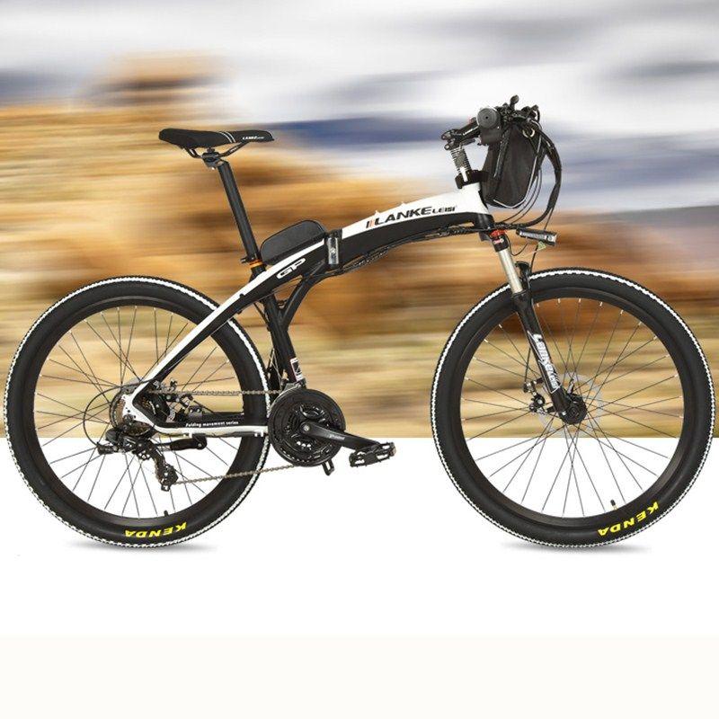 New, Lankeleisi Electric Bicycle, Folding Bike, 26 inches, 36/48V, 240W, Disc Brake, Fast-folding, Mountain Bike