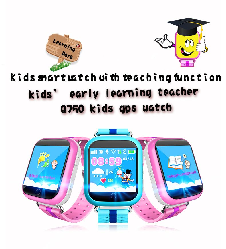 2016 NEW Kids Segura Relojes de seguimiento GPS pantalla táctil de 1.54