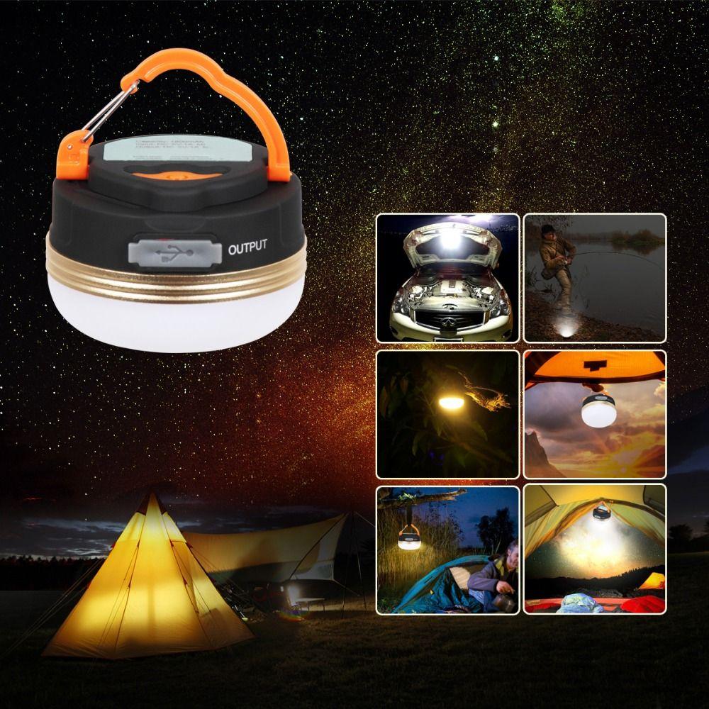 T-SUN Mini Camping lumières 3 W LED Camping lanterne tentes lampe extérieure randonnée nuit lampe suspendue USB Rechargeable