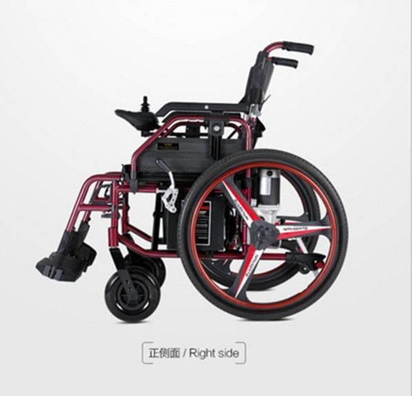 Strong capacity foldable electric wheelchair with lithium battery