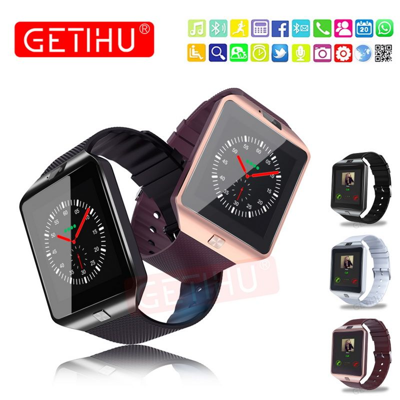 GETIHU Smart Watch DZ09 Digital Wrist with Men Bluetooth Electronics SIM Card Sport Smartwatch For iPhone Samsung Android Phone