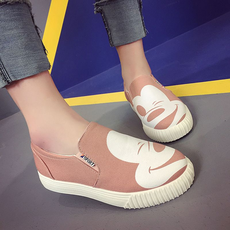 2018 Spring And Autumn New Pattern Star Fund Cartoon Comic Level With Le Fuxie Leisure Time Singles Shoe ForeignALEX