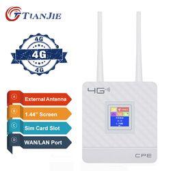 Dibuka 4G Router Antena Eksternal Wifi Hotspot Nirkabel 3G 4G Wifi Router WAN Lan RJ45 Broadband CPE router dengan Slot Kartu SIM