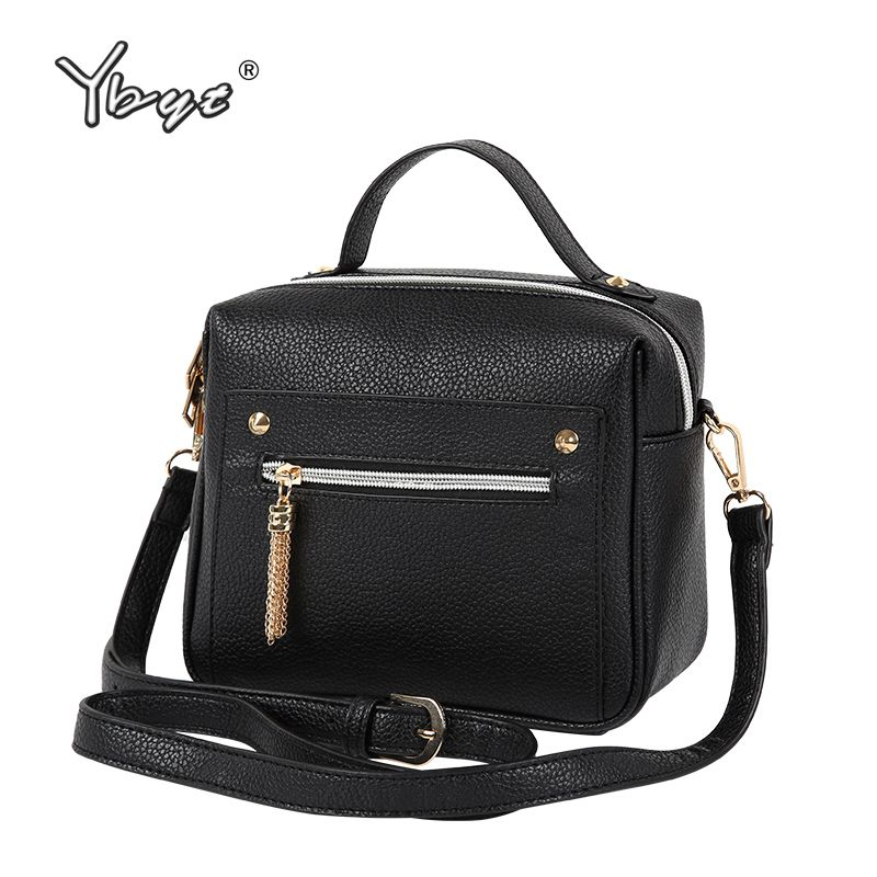 YBYT brand 2018 new fashion casual PU leather solid women handbags <font><b>hotsale</b></font> ladies shopping bga shoulder messenger crossbody bags