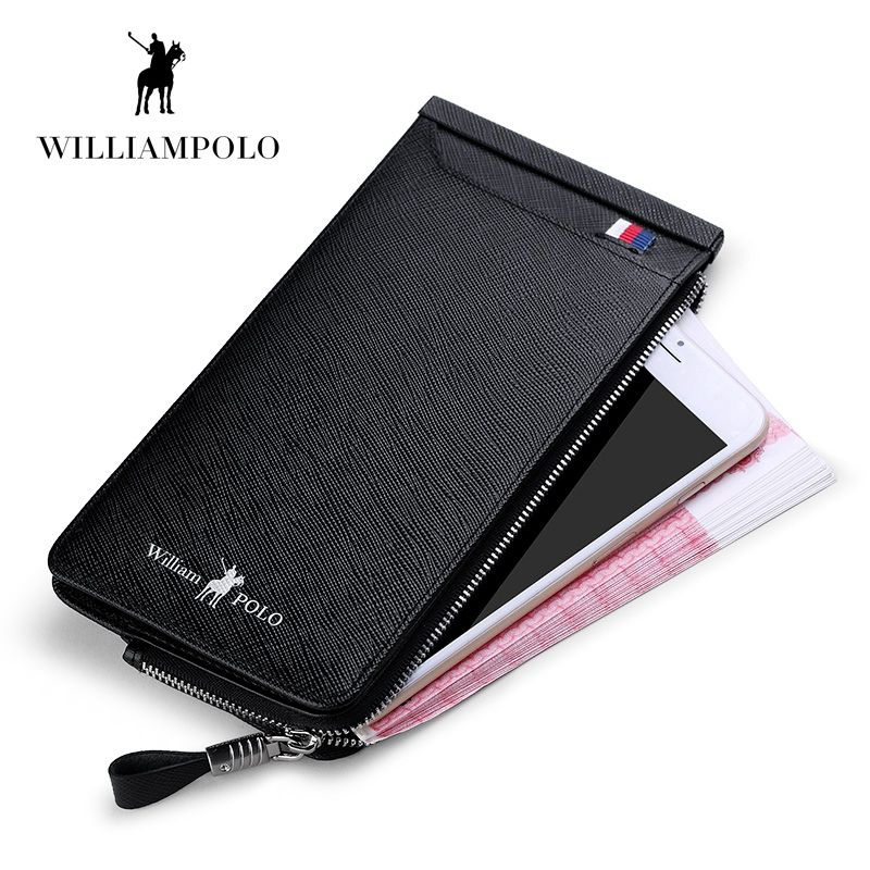 WILLIAMPOLO 2019 Casual Cow Leather Cash Holder 22 Credit Card Holder Wallet Drivers License Wallet POLO185136