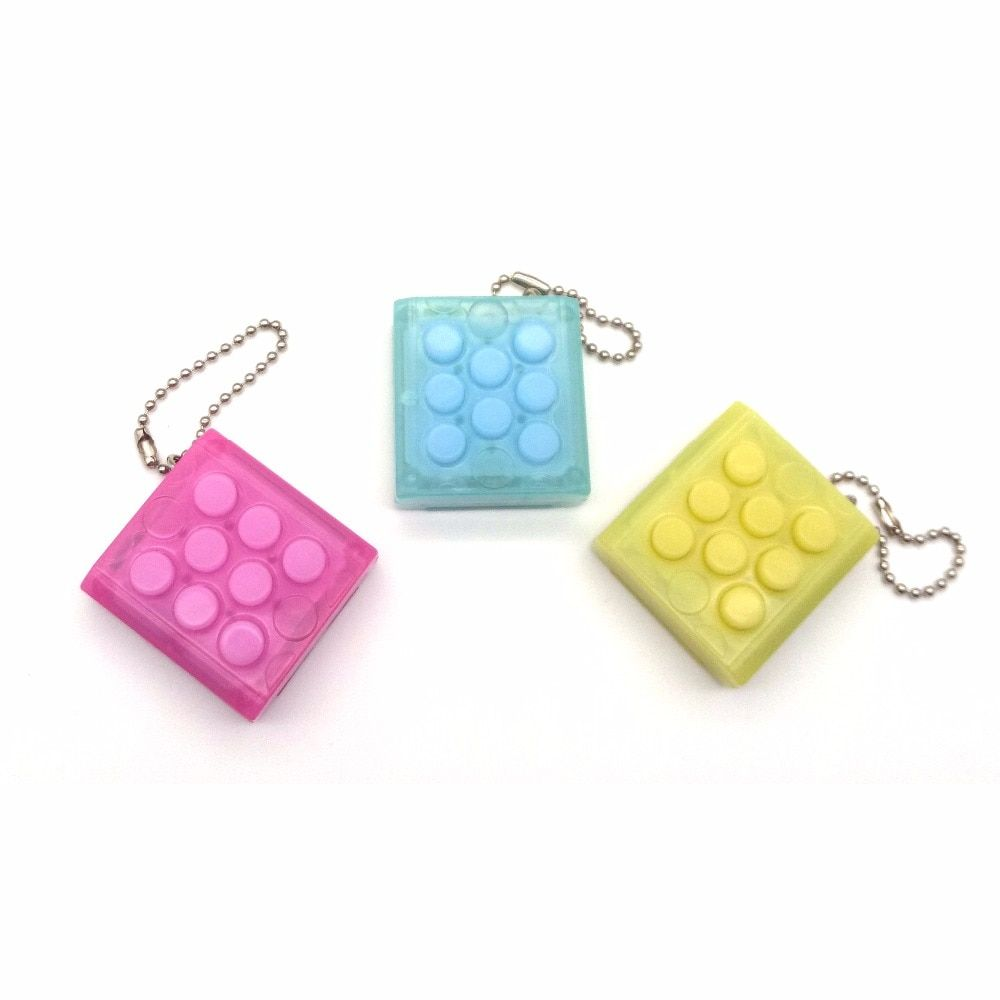 Anti Stress Toys Electronic Bubble Wrap Keyring Pop Infinite Hot Puchi Keychain Car Keyring Color Random