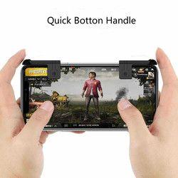 2 piezas Juego disparador Botón de fuego teléfono inteligente móvil Joysticks juegos L1R1 Shooter controlador para PUBG/reglas de supervivencia /los cuchillos