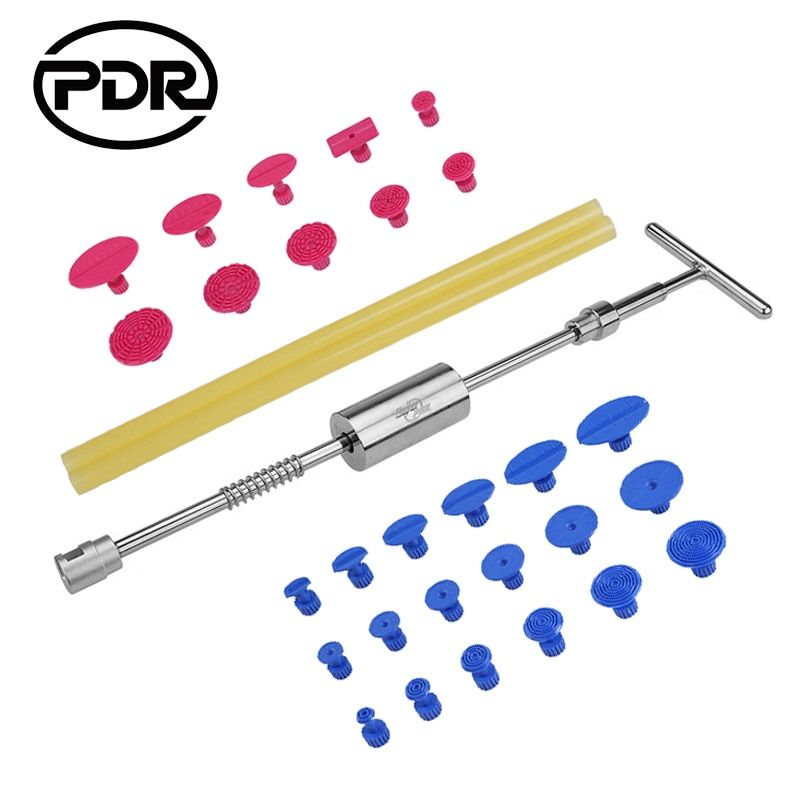 PDR Tools Dent Removal Paintless Dent Repair Tools Dent Puller Slide Hammer Puller Tabs Suction Cup Hand Tools Kit Ferramentas