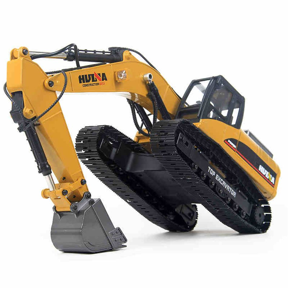 HUINA 580 Hobby Rc Hydraulic Excavator Kids Car Toys for Boys Car Styling Big Off Road Construction Remote Control Truck Autos