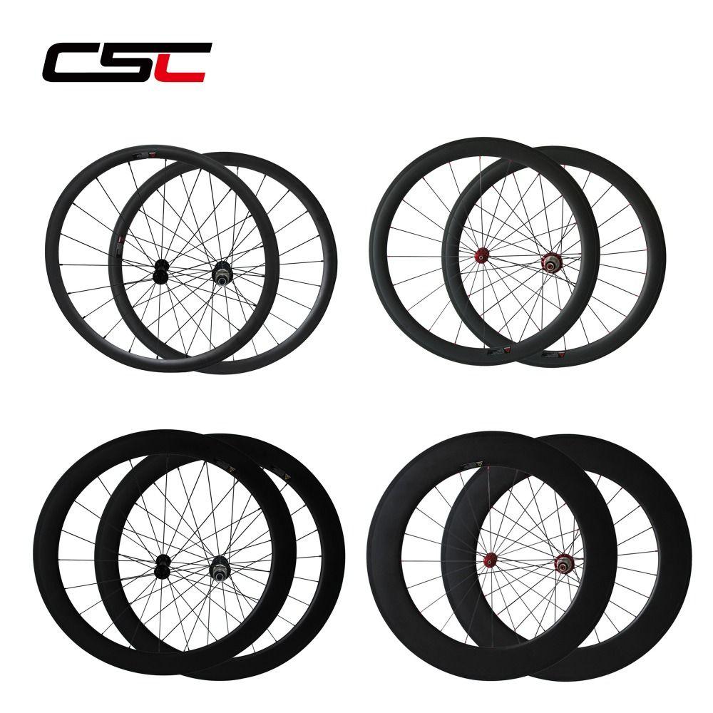 Carbon Wheels 24mm 38mm 50mm 60mm 88mm Depth Profile Tubular Or Clincher Chinese Super Light Carbon Wheelset
