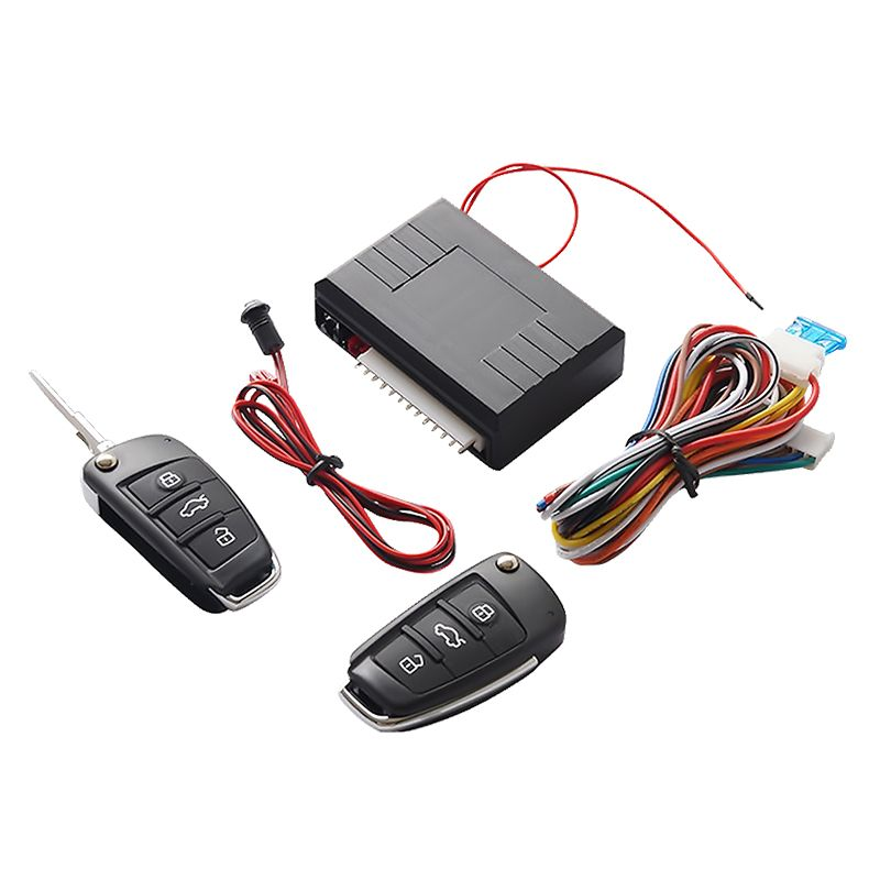 Universal Car Auto Keyless Entry System Button Start Stop LED Keychain Central Kit <font><b>Door</b></font> Lock with Remote Control