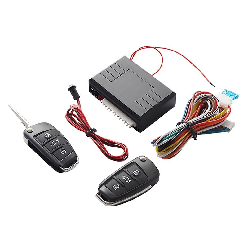 Universal Car Auto Keyless Entry System Button <font><b>Start</b></font> Stop LED Keychain Central Kit Door Lock with Remote Control