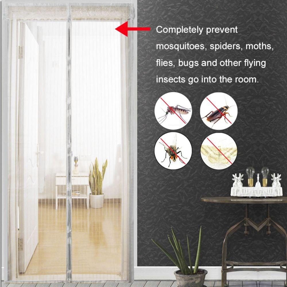 1 PC Usage Domestique Moustique Net Rideau Aimants Porte Mesh Insectes Sandfly filet avec Des Aimants sur Le Tamis à Mailles De Porte Aimants 5 Taille