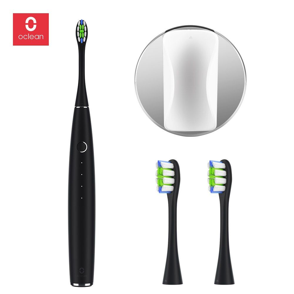 Oclean Rechargeable Automatic Sonic Electrical Toothbrush Set With 2 Brush Heads And 1 Wall-Mounted Holder APP Control