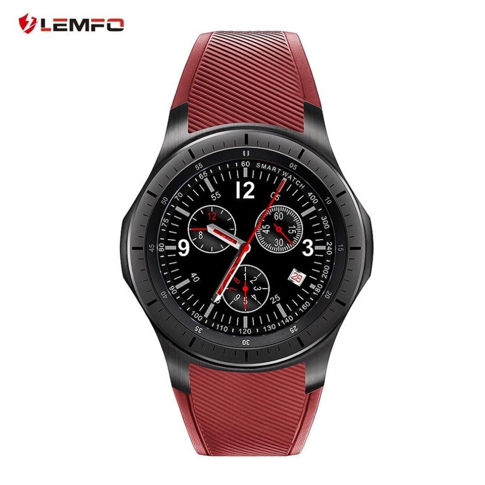 Original LEMFO LF16 Android 5.1 Smart Watch 1.39 inch OLED Screen MTK6580 512MB+8GB Bluetooth Watch Heart Rate Reloj Inteligente