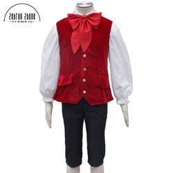 Custom Made Film la belle et la Bête Lefou Cosplay Costumes Hommes Outfit Halloween Carnaval Vêtements Costume