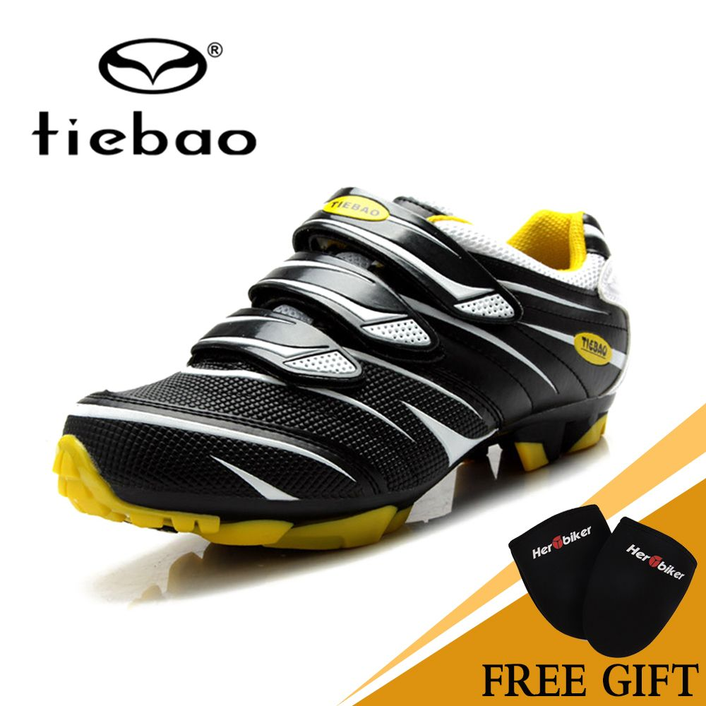 TIEBAO Road Racing TPU Soles Mountain Bike Shoes Men Bicycle Cycling Sport Breathable Triathlon Athletic MTB Shoes Cycling Shoes