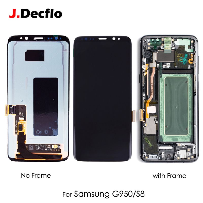 Original Super AMOLED OLED For Samsung Galaxy S8 G9500 SM-G950U LCD Display Touch Screen Digitizer Assembly Replacement