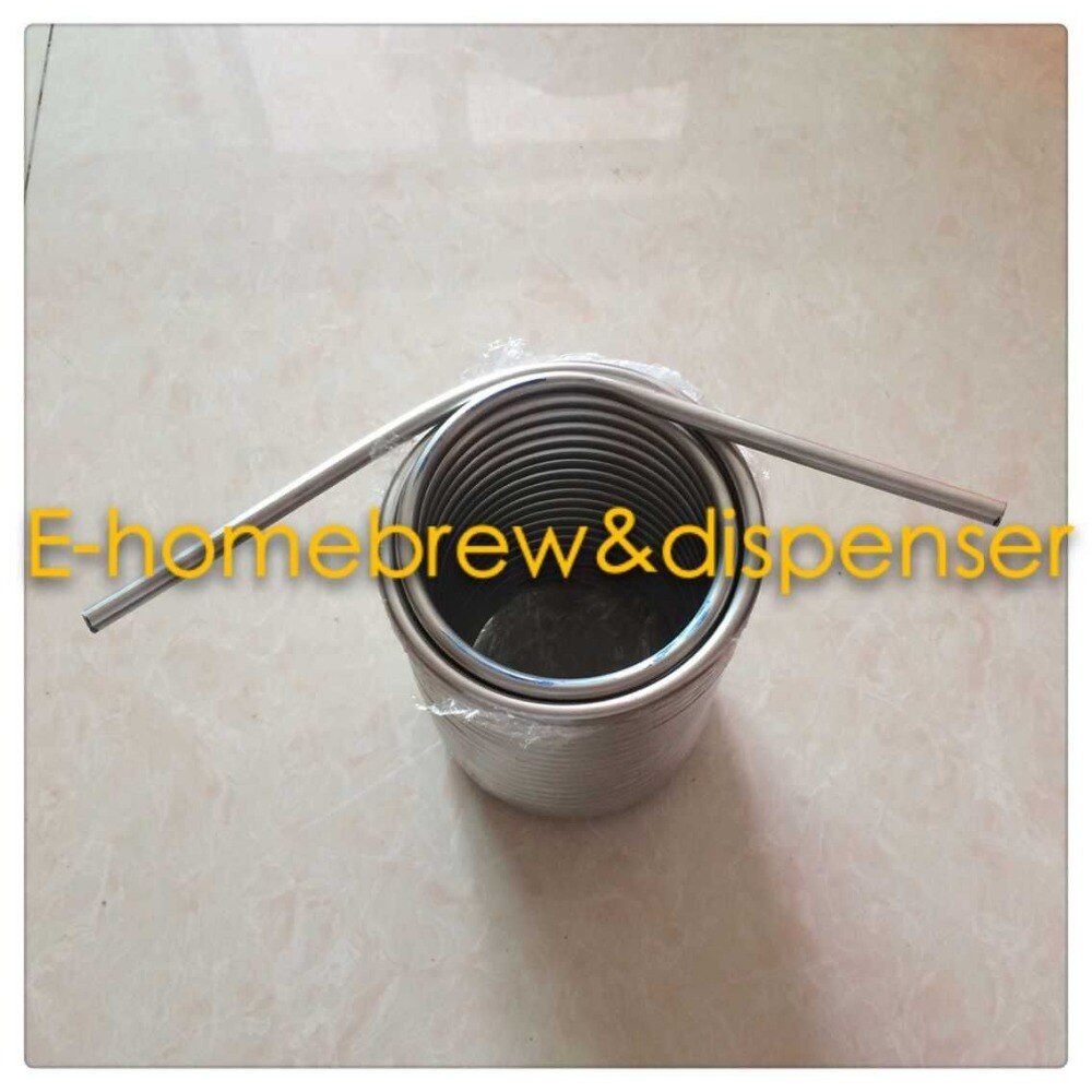 short ends pipe Stainless Steel Coil 5' Diameter beer coil cooler for your homebrew make jockey box by yourself