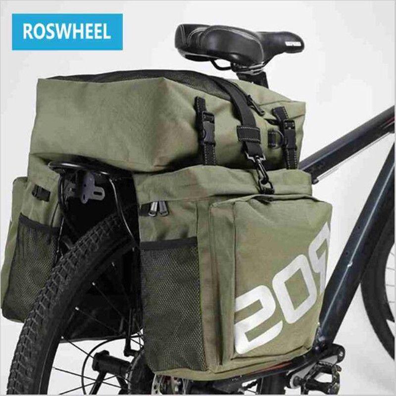 ROSWHEEL 37L MTB Mountainbike Rack Bag 3 in 1 Multifunktions Straße Fahrrad Rear Seat Trunk Bag