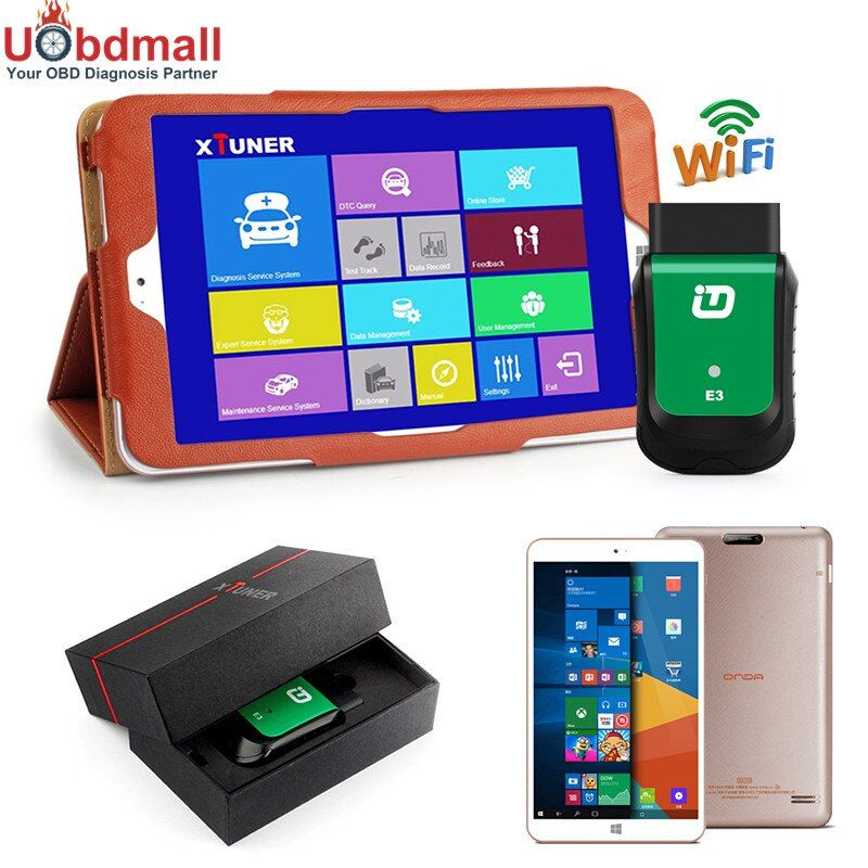 Newest V9.2 XTUNER E3 EasyDiag Wifi OBD-II Automotive Scanner + 8'' WIN10 Tablet Car Diagnostic Tool Replacement Vpecker