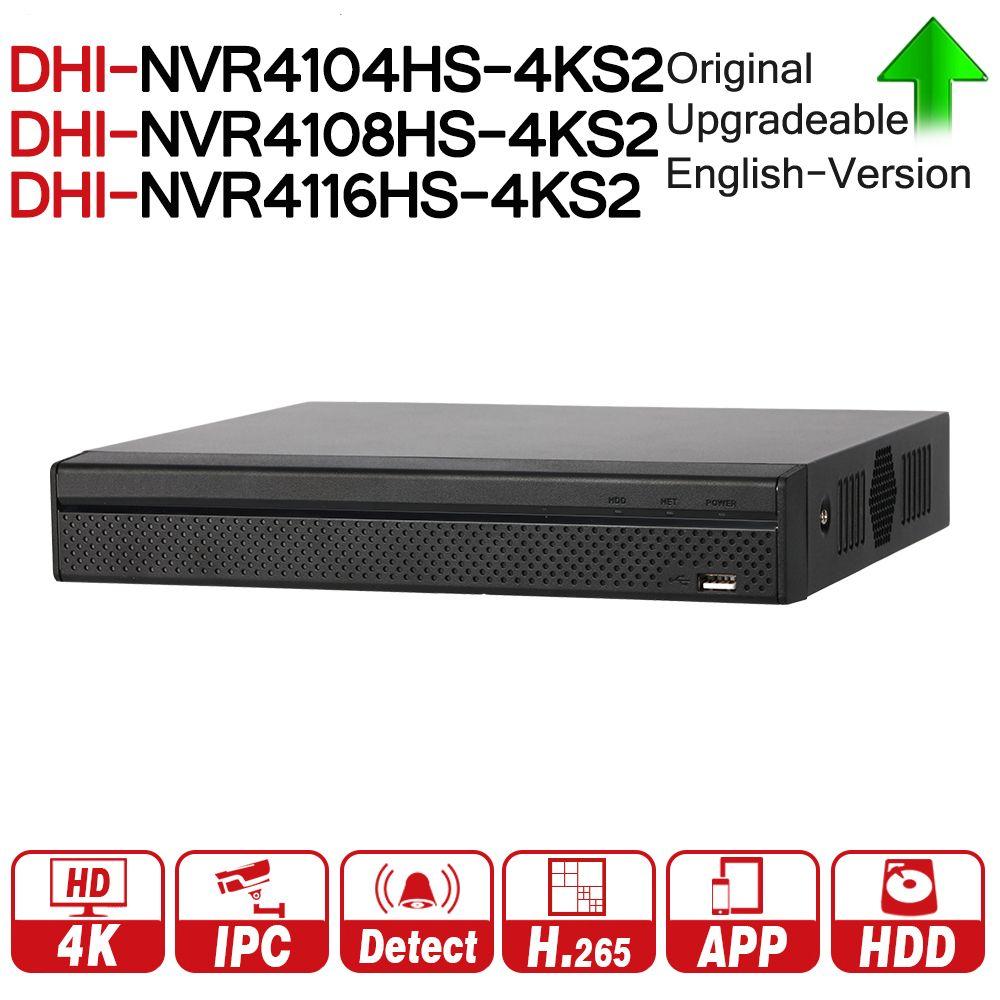 DH NVR4104HS-4KS2 NVR4108HS-4KS2 NVR4116HS-4KS2 Lite NVR 4 8 16 Channel Compact 1U 4K H.265 ONVIF 80Mbps MAX 8MP Resolution