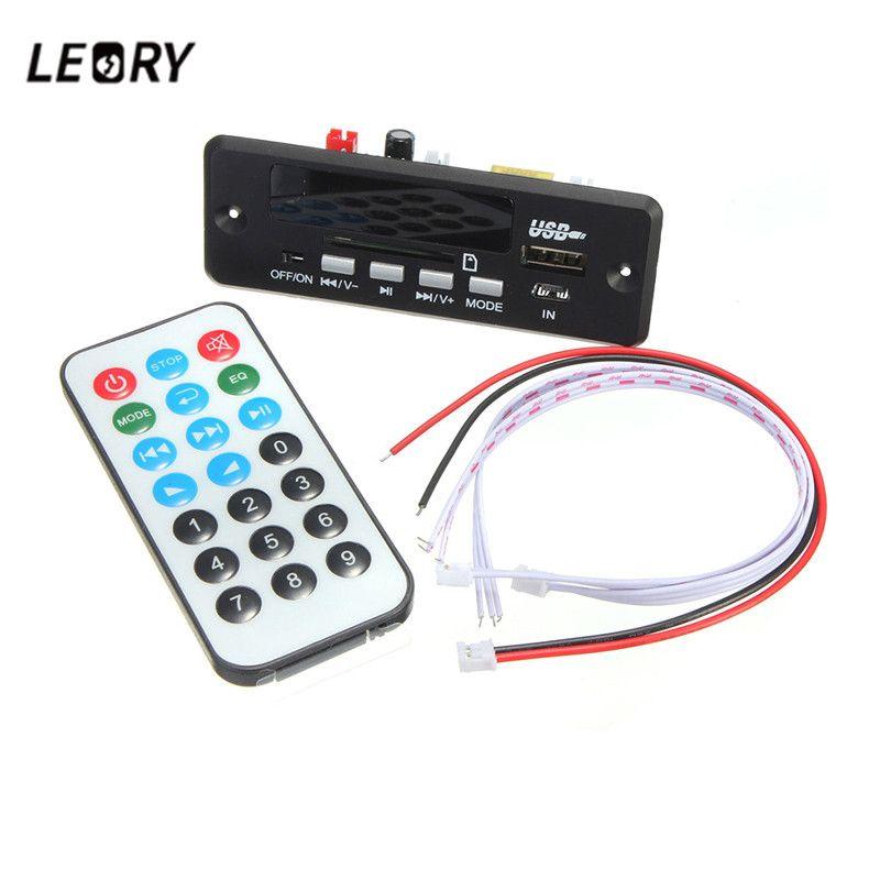 LEORY 7/12 V Drahtlose Bluetooth MP3 Decoder Board Digitale Led-anzeige Mit Fernbedienung Audio Modul USB TF Radio WAV MP3