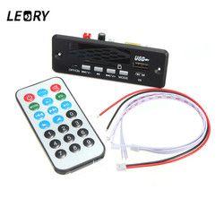 LEORY 7/12V Wireless Bluetooth MP3 Decoder Board Digital LED Display With Remote Controller Audio Module USB TF Radio WAV MP3