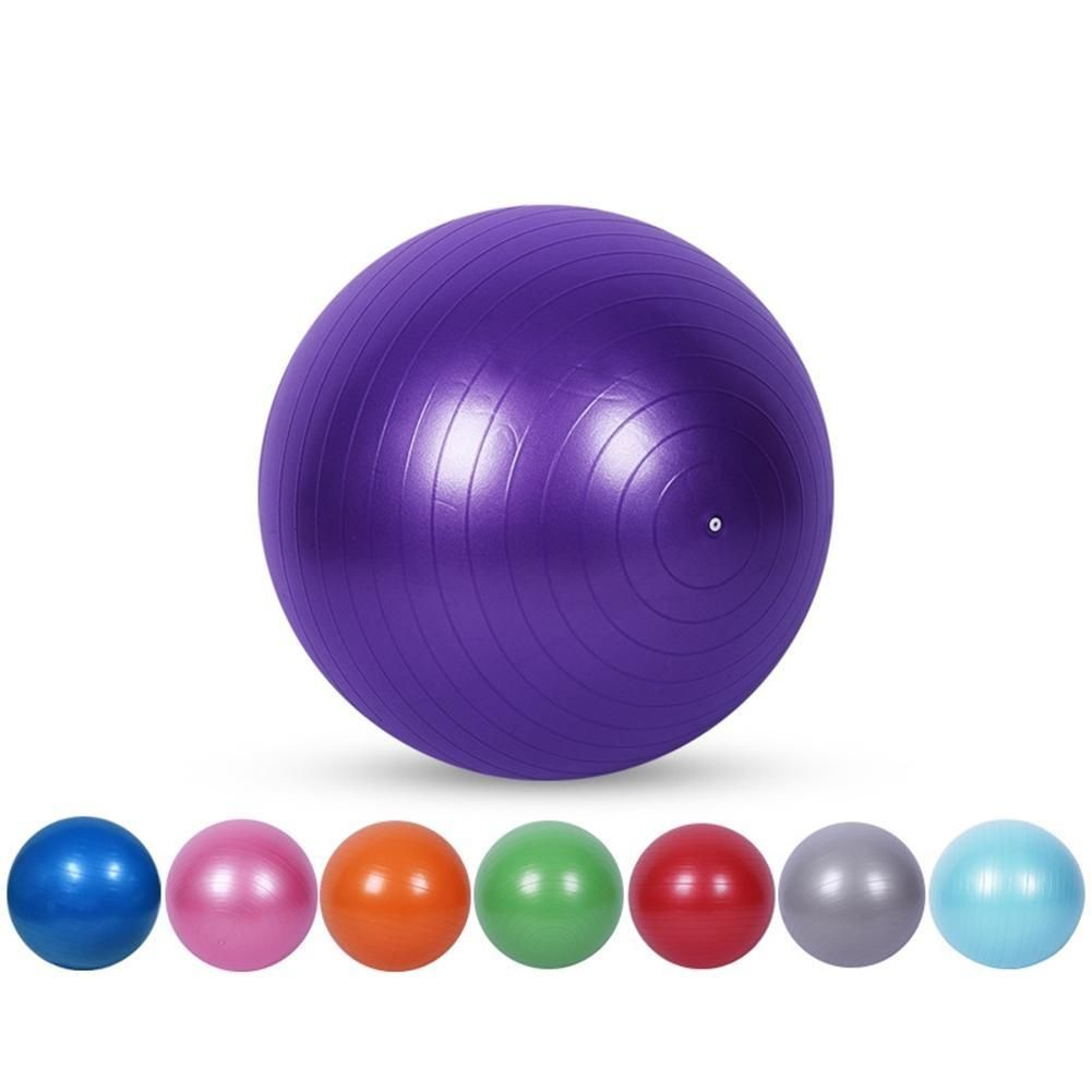 Mounchain Yoga Exercise Ball Anti-Slip Ball Chair Anti-Burst Balance Ball Extra Thick Birthing Ball with Pump