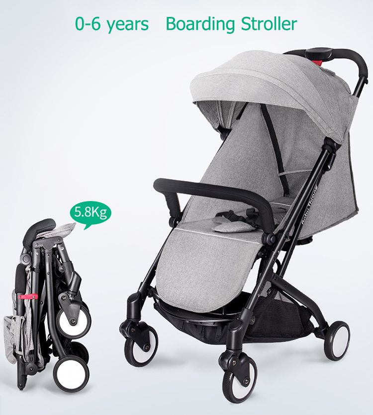 Babythrone Baby Stroller Portable bb car Can Sit And Lie Down Folding Car 8 Colors 7 Free Gifts send leg cover newborn travel