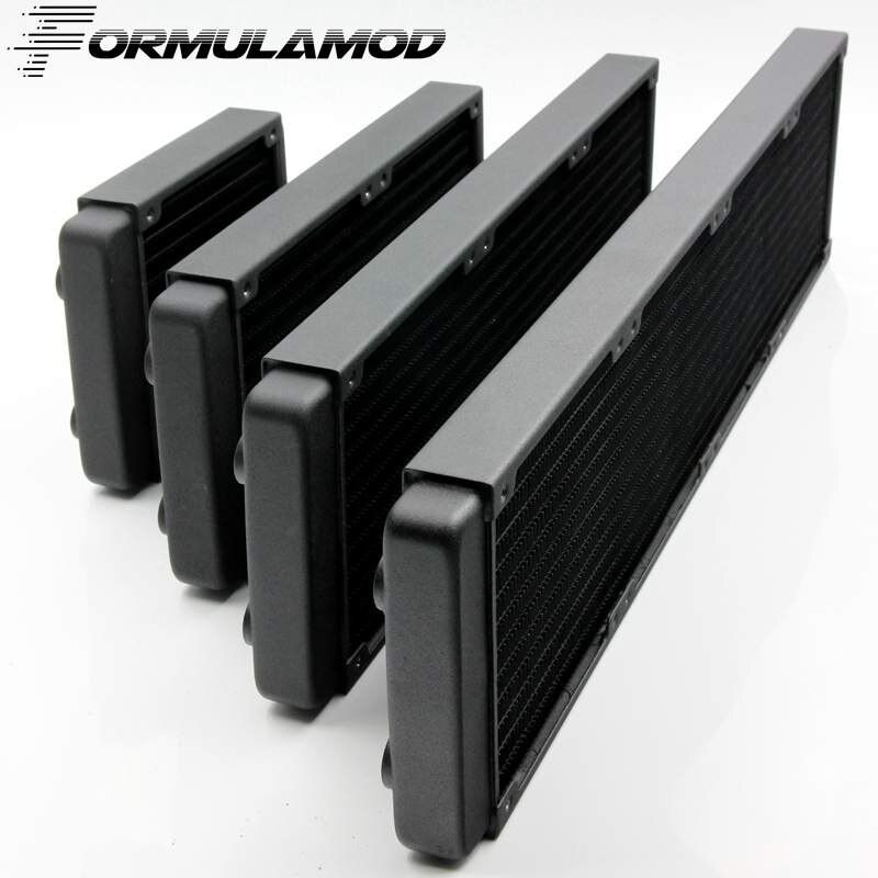 FormulaMod 120/240/360/480mm copper computer water discharge liquid heat exchanger threaded thread radiator for 12cm fan