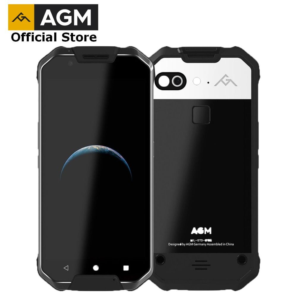 OFFICIAL AGM X2 5.54G Smartphone 6G RAM+64G/<font><b>128GB</b></font> ROM Android 7.1 Mobile Phone IP68 Waterproof Octa Core 6000mAh Rugged Phone