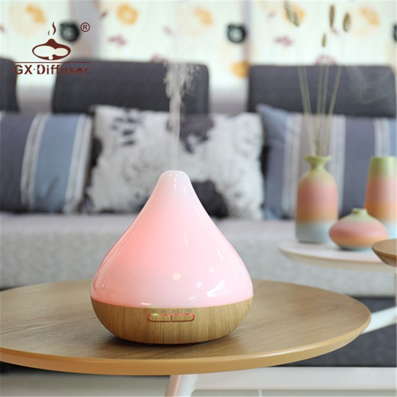 GX.Diffuser 12W Aromatherapy Air Humidifier Ultrasonic 7 LED Night Colorful Lights Mist Maker Aroma Diffuser Aromatherapy Oils