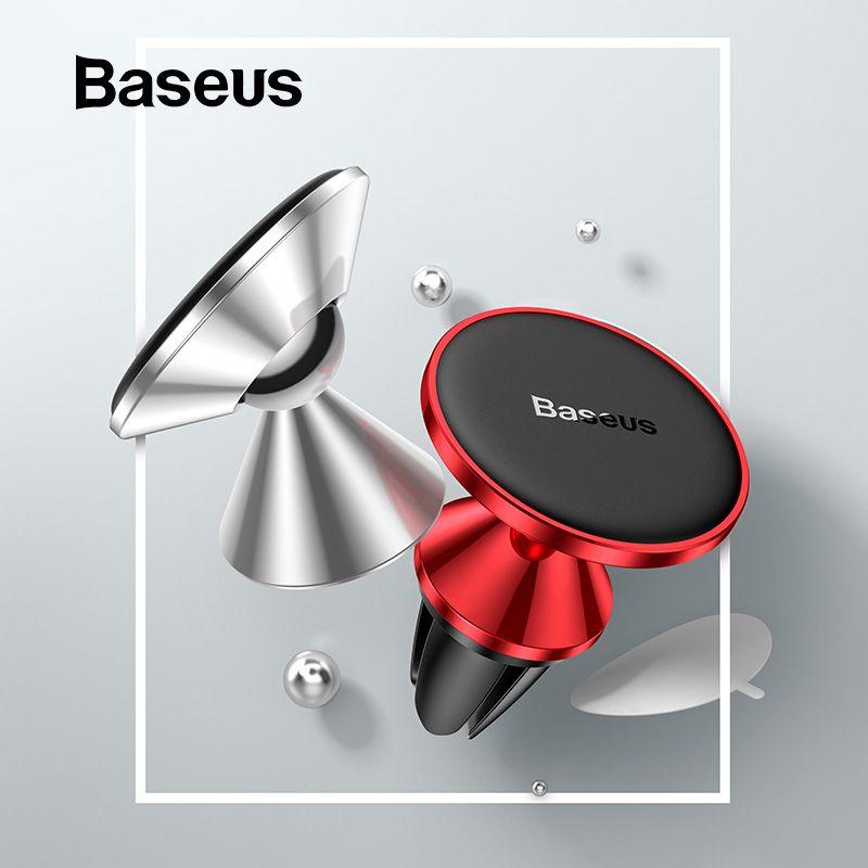 Baseus Magnetic Car Phone Holder for iPhone Samsung Magnet Mobile Phone Holder Universal Car Air Vent Mount Phone Holder Stand