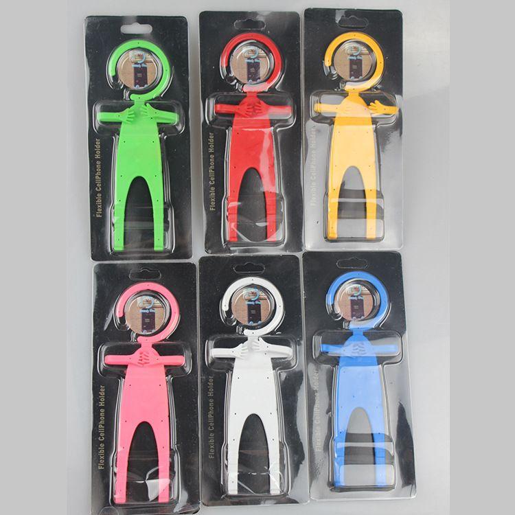 New hot Téléphone titulaire humanoïde silicone support de voiture universel Bondi BNDW Flexible Téléphone portable Support Blanc