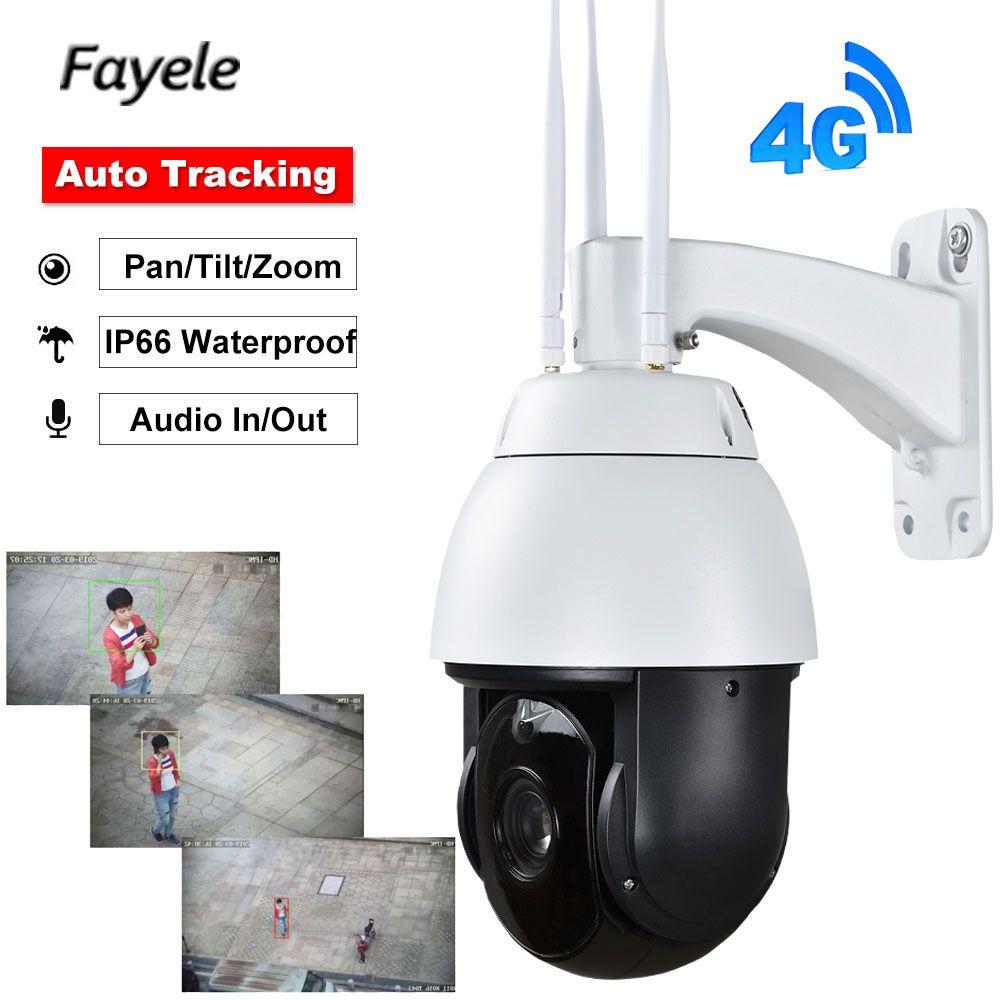 Sicherheit 6 3G 4G PTZ Kamera 1080 P Auto Tracking Gesicht Erkennung 20X Zoom AI Tracker Sternenlicht IR 200 M Audio In Stimme Alarm
