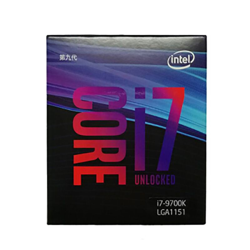 Marke neue intel i7 9700 karat CPU 3,6g 95 watt 8 Kerne 8 Threads LGA 1151 14nm Desktop CPU 12 mb Cache HD VGA