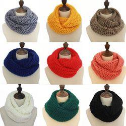 18 colores bufanda caliente del invierno bufandas de punto mujeres moda lana Cachemira pashmina bufanda bufandas
