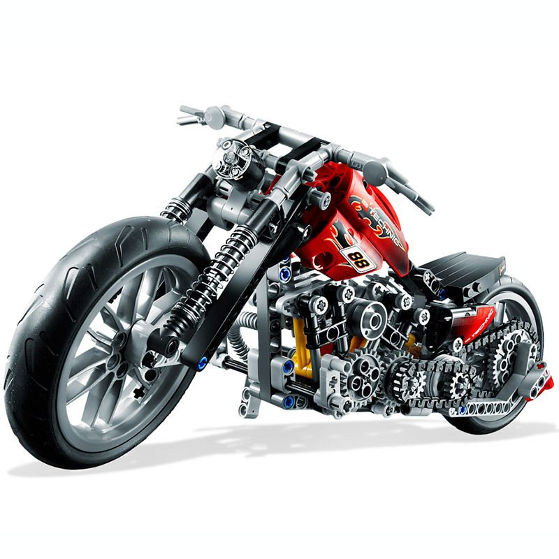 HOT 378Pcs Technic Motorcycle Exploiture <font><b>Model</b></font> Harley Vehicle Building Bricks Block Set Toy Gift Compatible With Legoe