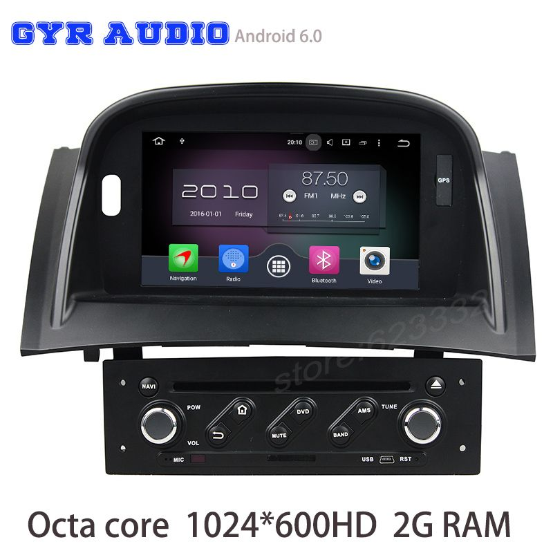 Octa core android 6.0 Car dvd radio for Renault Megane 2 II Fluence 2003-2009 with gps USB WIFI 4G bluetooth mirror link radio
