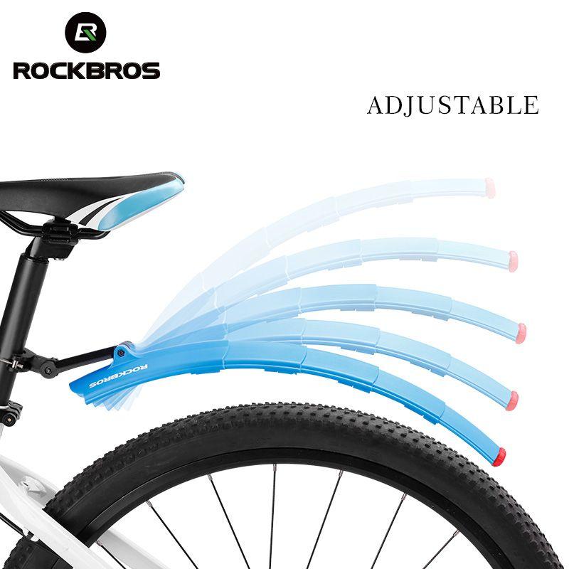 ROCKBROS Bike Teleskop Klapp Fahrrad Kotflügel Vorne Hinten Kotflügel Quick Release Bike Fender Flügel Mit Rücklicht Bike Teile