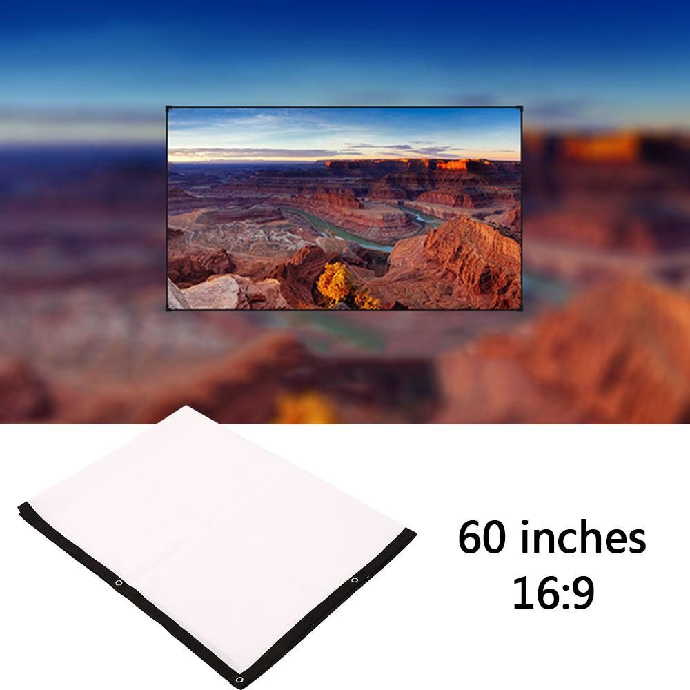 Складная 60 дюймов 16:9 проектор БЕЛЫЙ Проекционный Экран для HD проектор домашнего Театр Кино фильмы партии крытый outdor