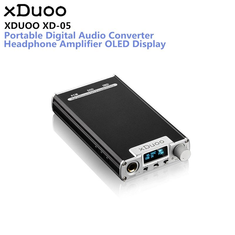 Original XDUOO XD-05 Portable Audio DAC Headphone Amplifier HD ILED Display Professional PC USB Decoding Amplifier