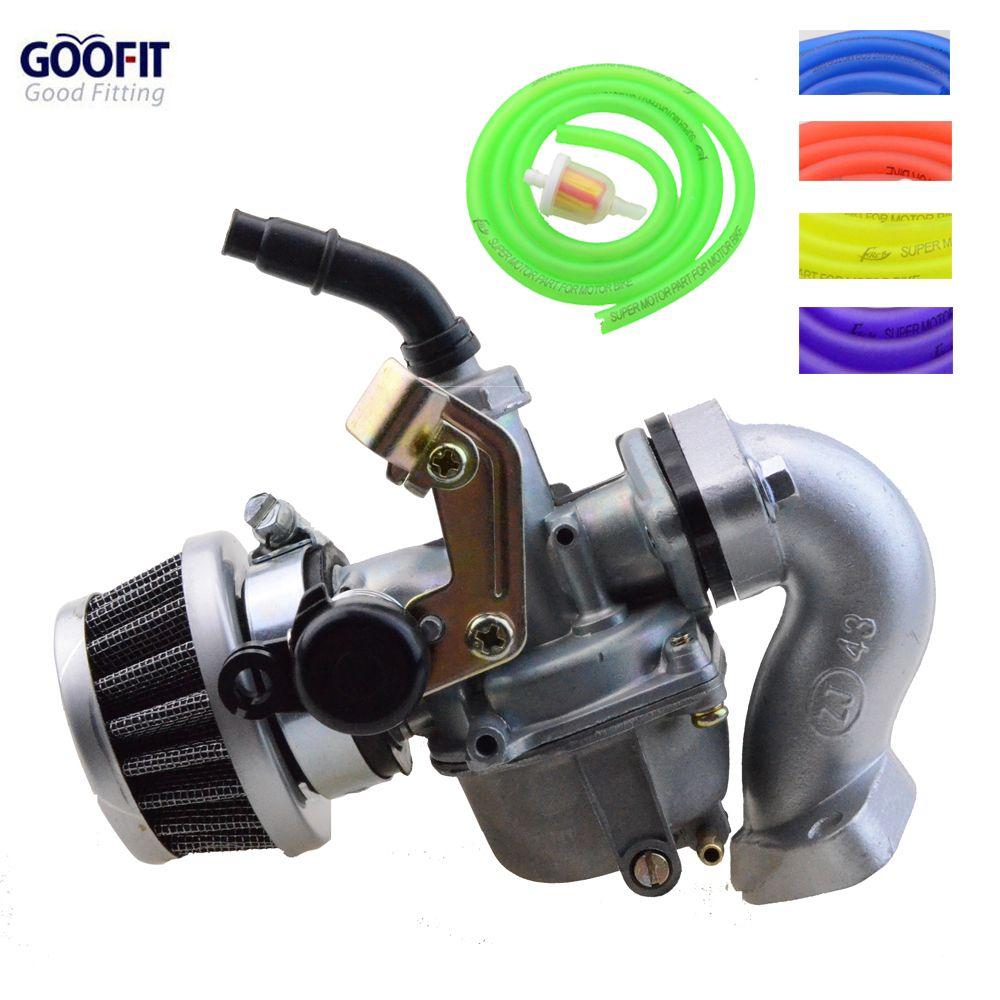 GOOFIT Racing 19mm carburateur filtre à Air assemblage tuyau d'admission joint tuyau de carburant pour 50cc-125cc ATV Dirt Taotao N090-230