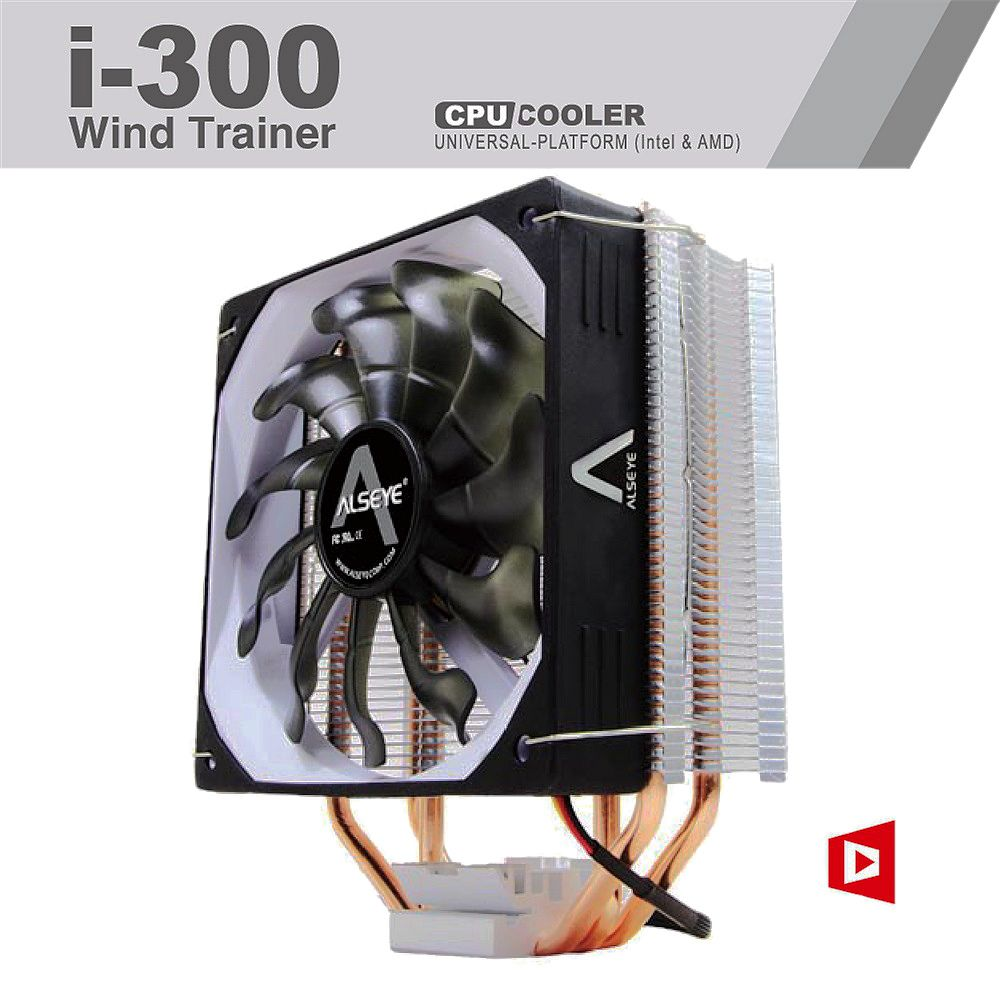 ALSEYE CPU cooler 120mm fan 3 heatpipes TDP 230W Copper pipes radiator CPU cooling for Intel AMD LGA 775/1151/1366/AM2+/AM3+/AM4