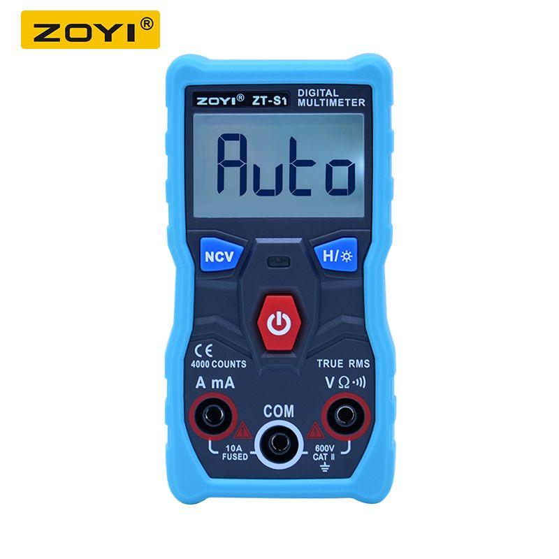 ZOYI ZT-S1 Automatic Digital Multimeter True-RMS intelligent NCV 4000 Counts AC/DC Voltage Current Ohm Test Tool