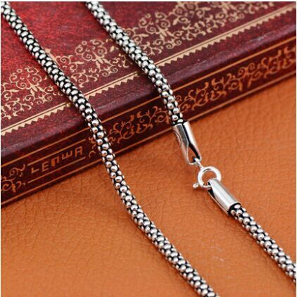 925 sterling silver necklace Women Men jewelry classic silver 925 Corn Chain MLY001