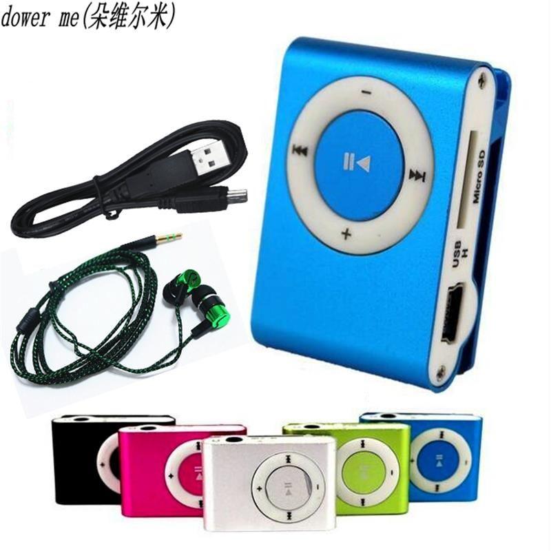 2018 NEUE Kopfhörer Mp3 Musik-player Mp3-player Unterstützung Micro TFCard Slot USB MP3 Sport Player Usb-anschluss Mit Kopfhörer Für Telefon