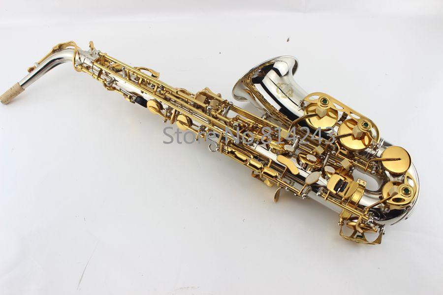 Suzuki Neue Nickel Silber Überzogene altsaxophon altsaxophon mundstück gold schlüssel eb mit fall.