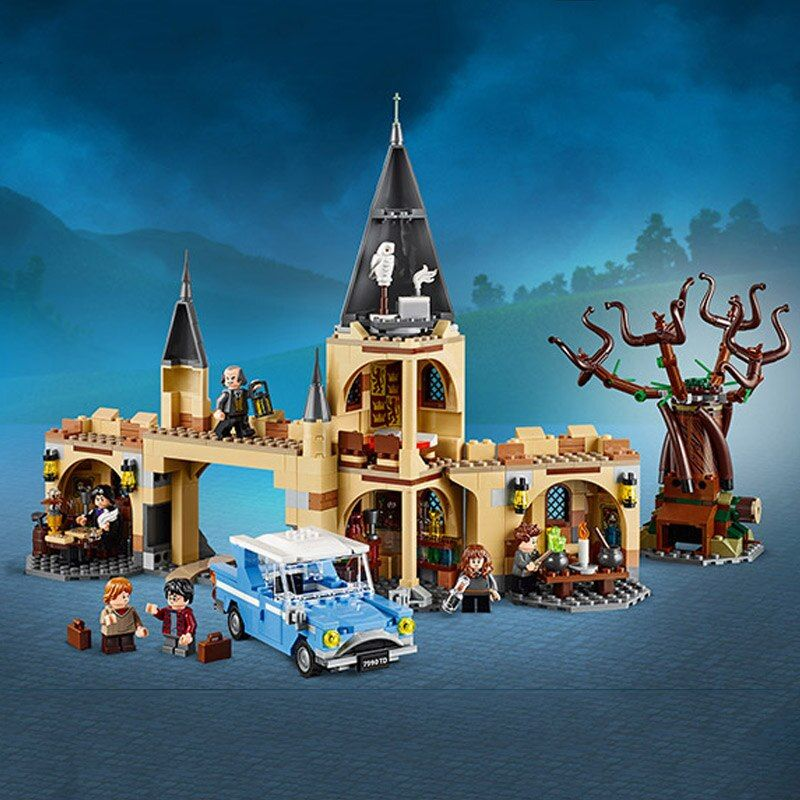 Harri Potter Series Hogwarts Whomping Willow Building Blocks 843pcs Brick Toys Compatible With Legoing Movie